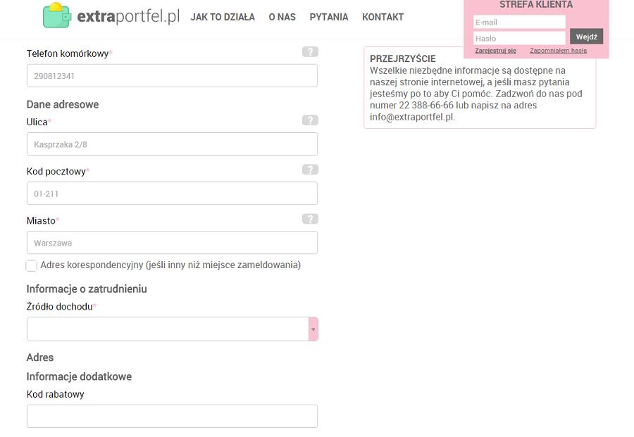Extraportfel.pl Logowanie